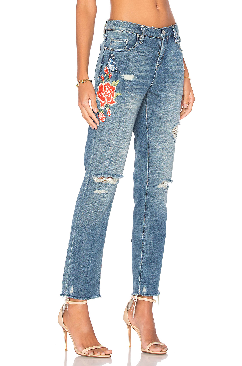 embroidered denim trends